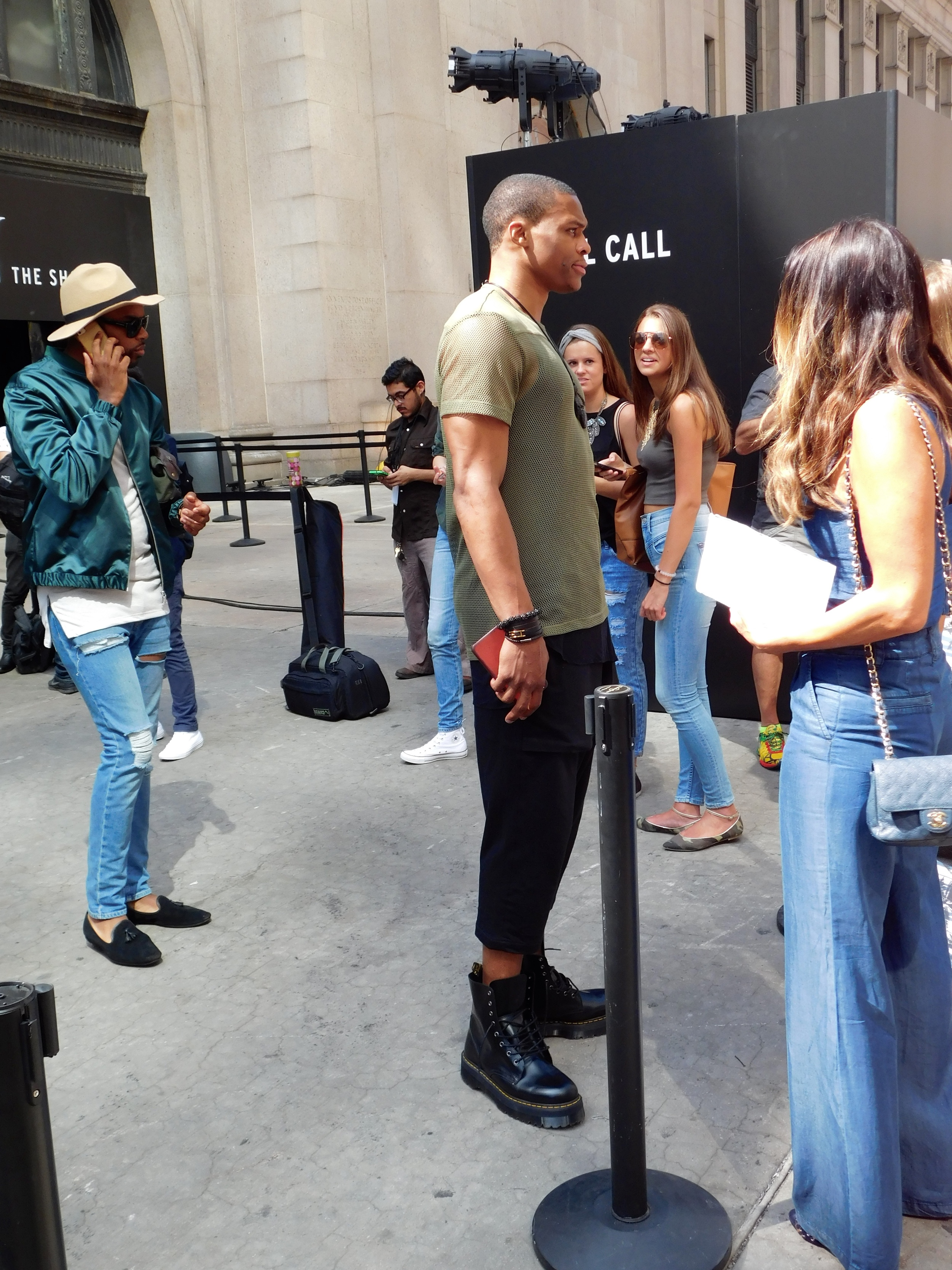 Russell Westbrook leaving the Public School Show 9/13/15