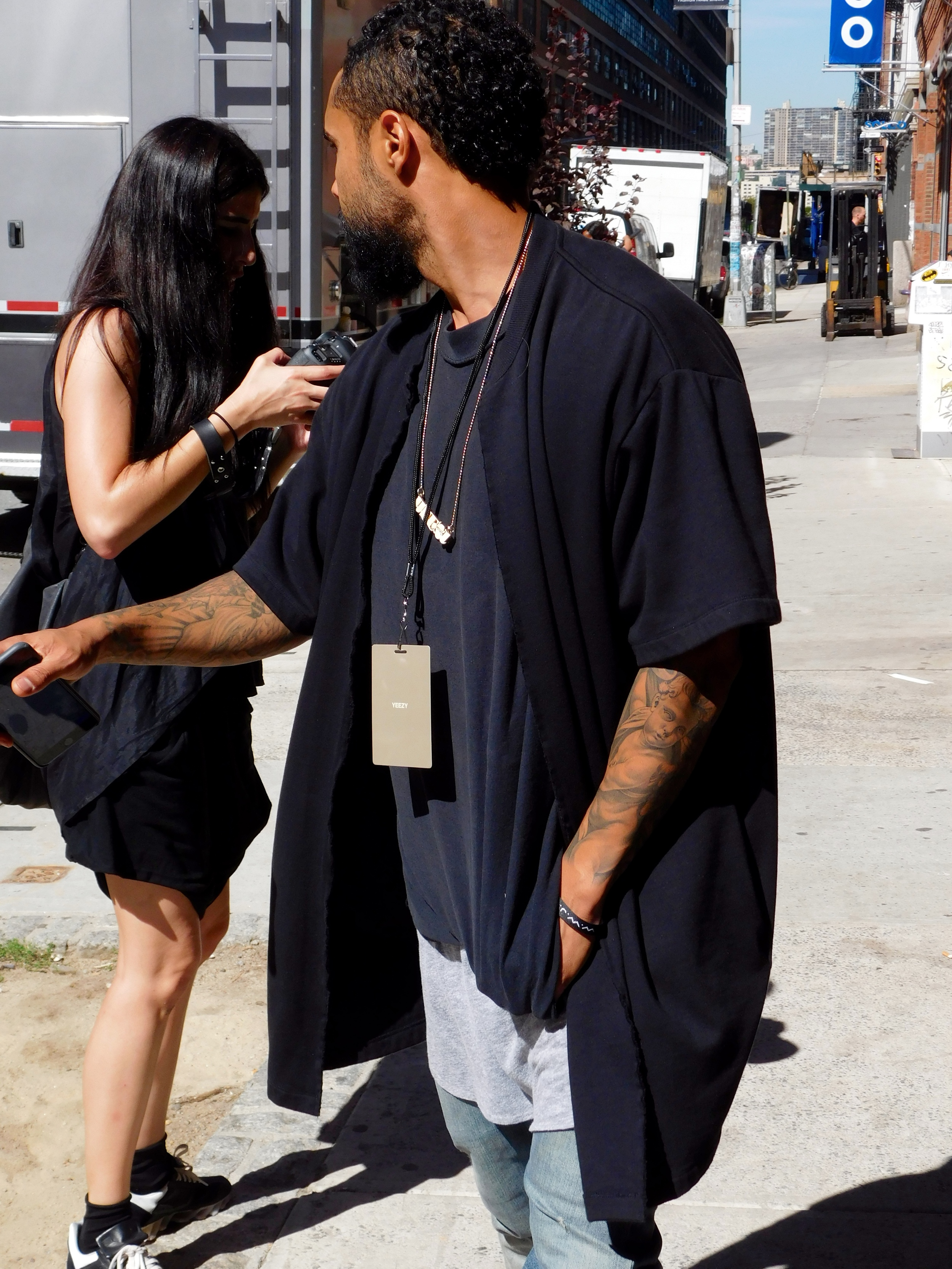 Jerry Lorenzo about to head into the show.