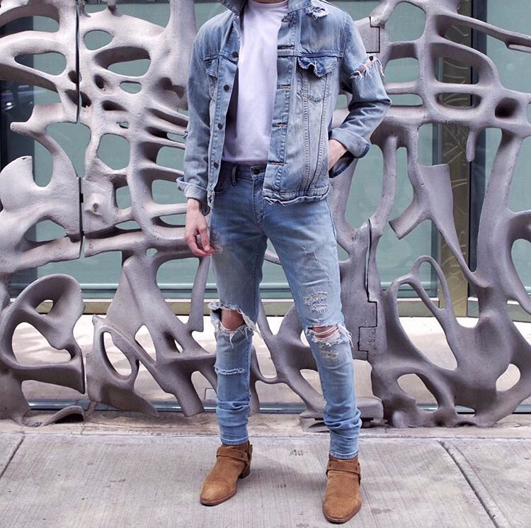 yeezy crepe boot outfit