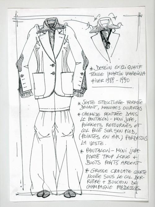 Maison Martin Margiela - A-W 1989 Line 1 - Explanatory sketch for an outfit.jpg