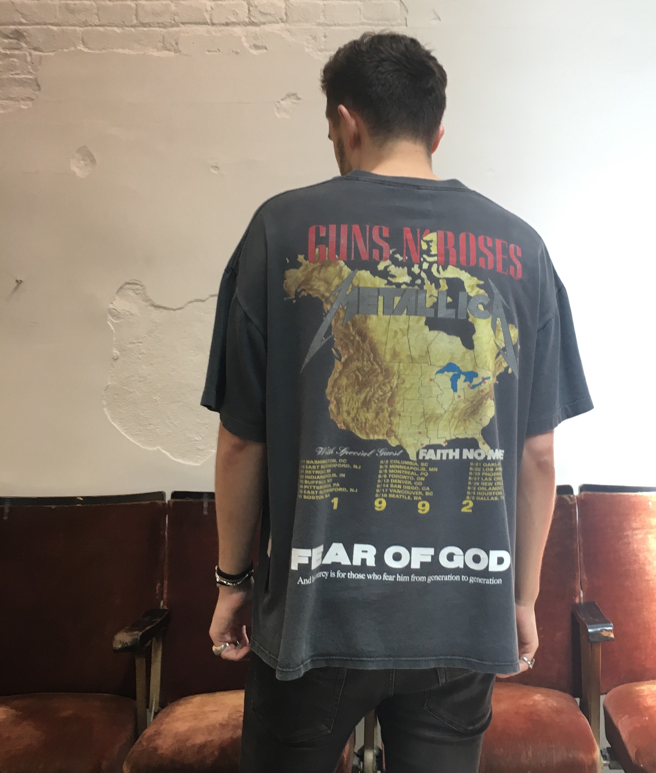 Jackson in a Fear of God t-shirt instead of Rick Owens?! The end is among us.  @jackson_fmf