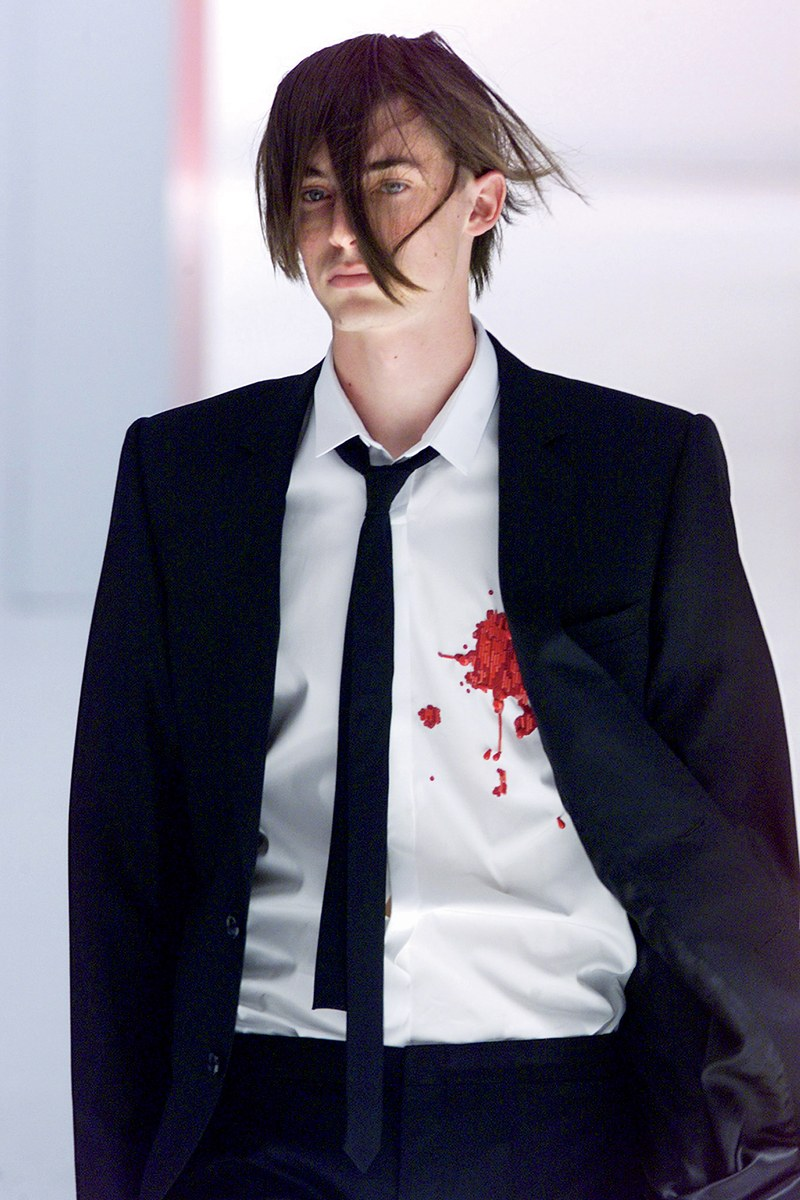 Dior Homme, Blood Wound Shirt, 2002 Boys Don't Cry