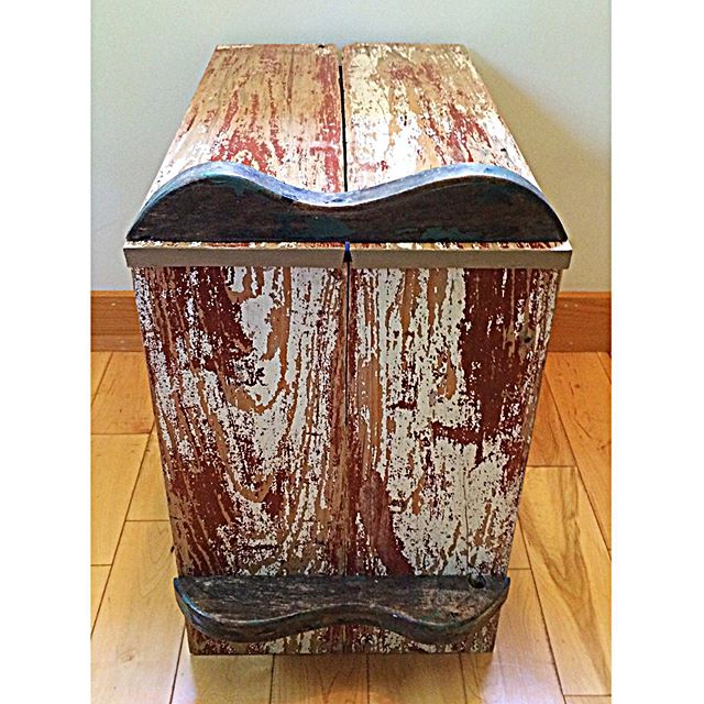 #rustic #table made with #repurposed #wood