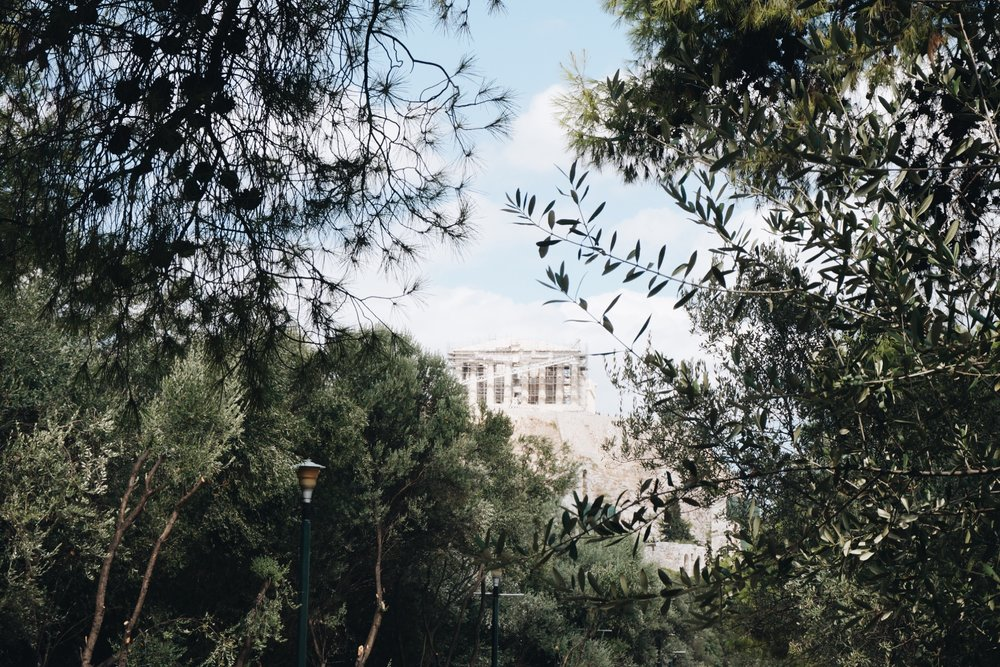 Views of the Acropolis from afar