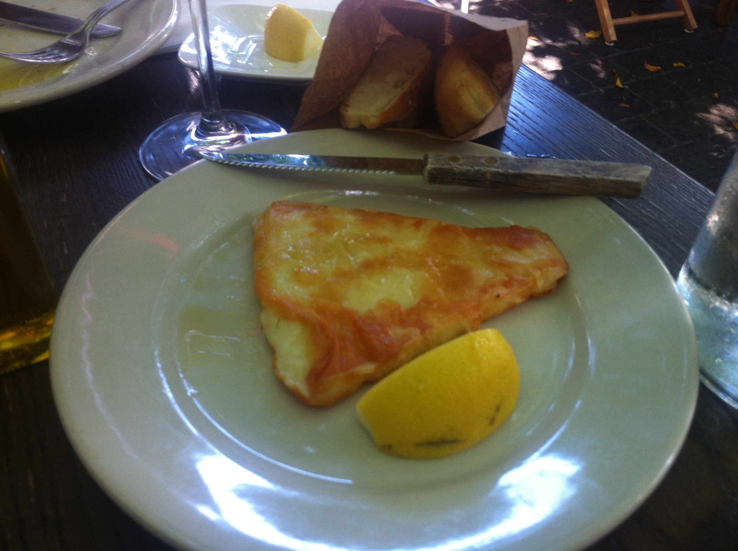 Cheese Saganaki.