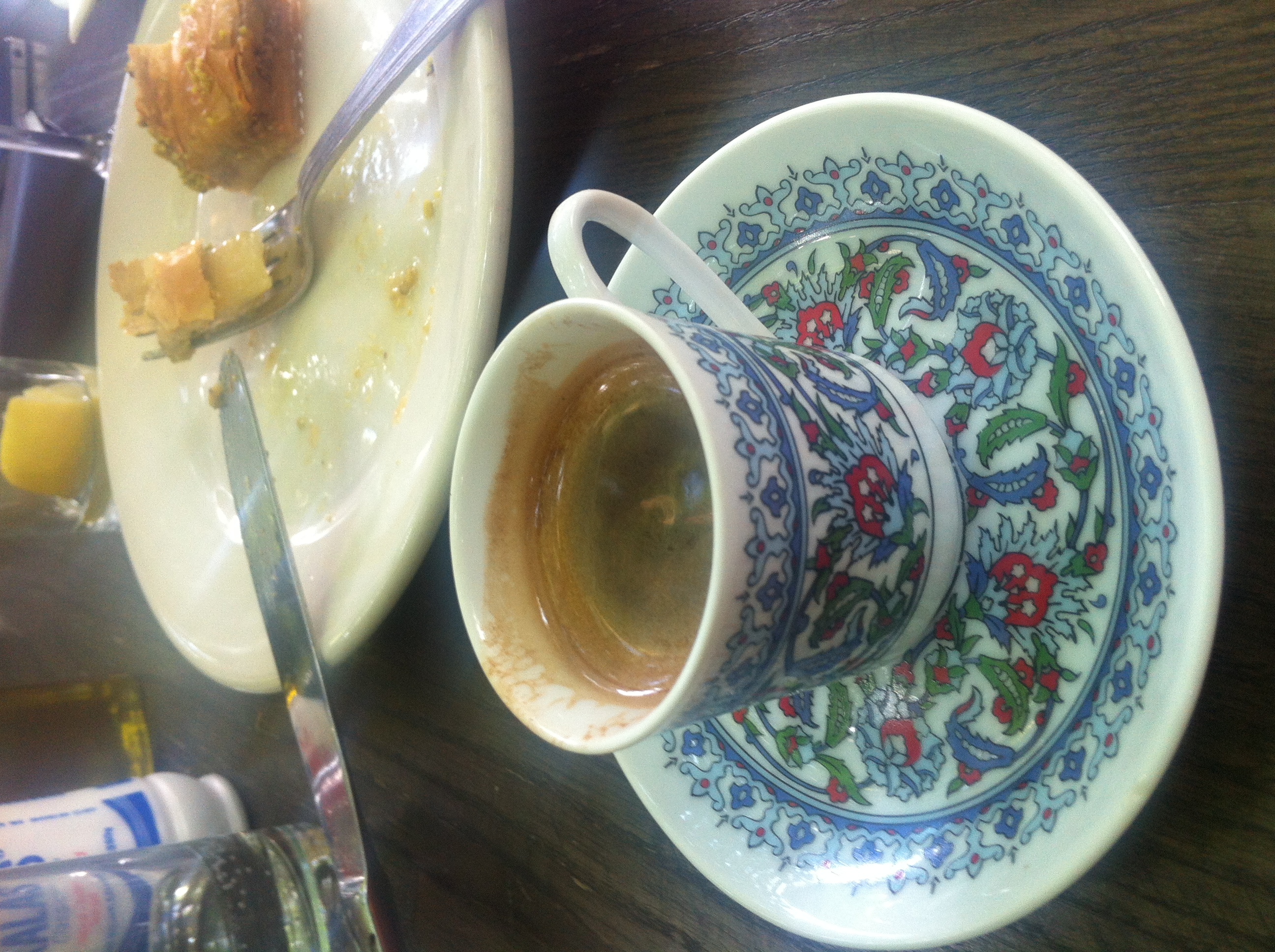 Café turco e Baklava.