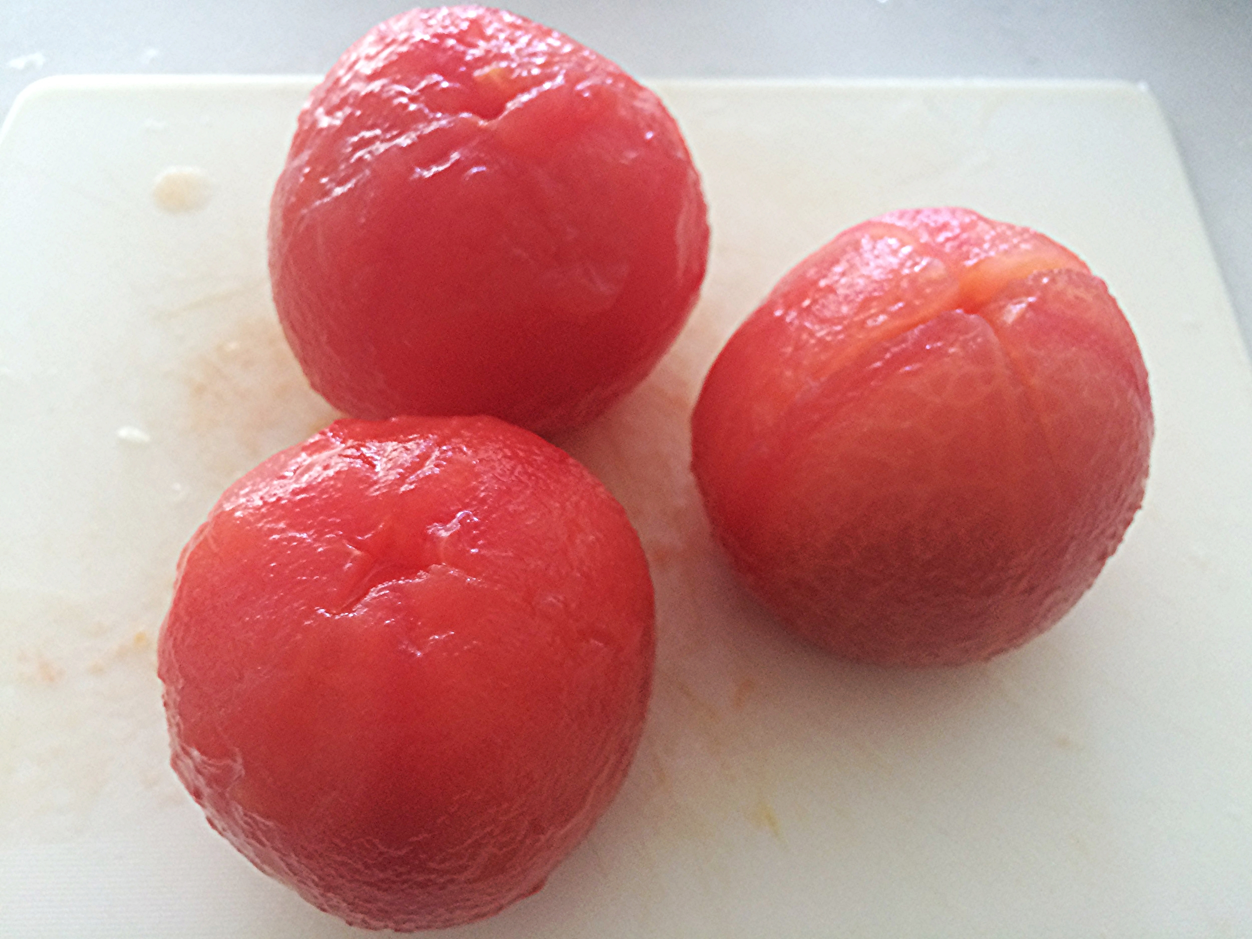 Tomates pelados. ;)