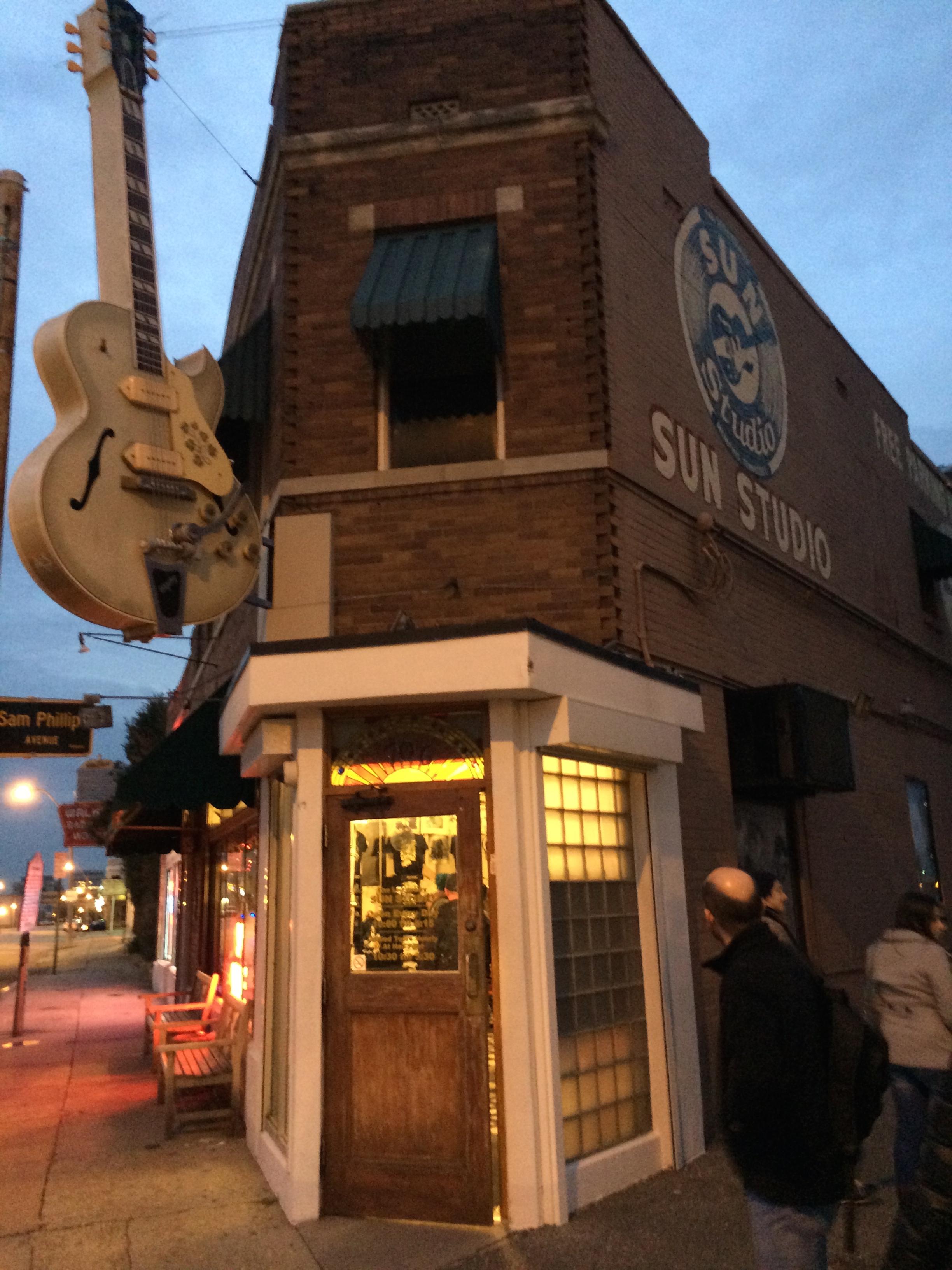 A porta de entrada da  Sun Studio .
