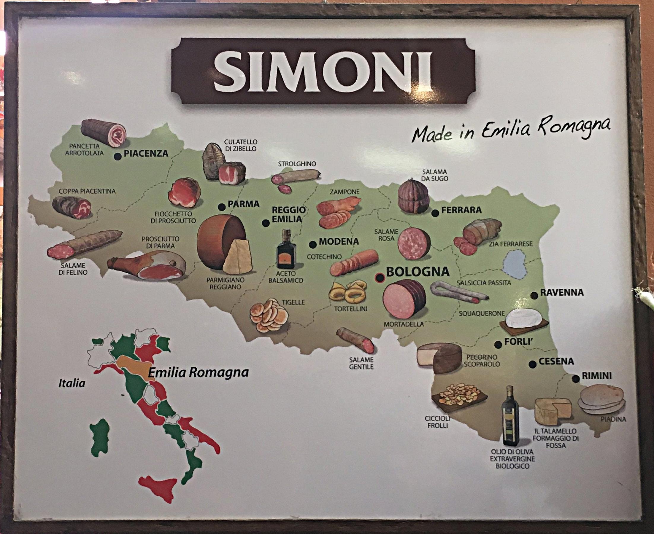 Um resumo da produção da Emilia Romana.