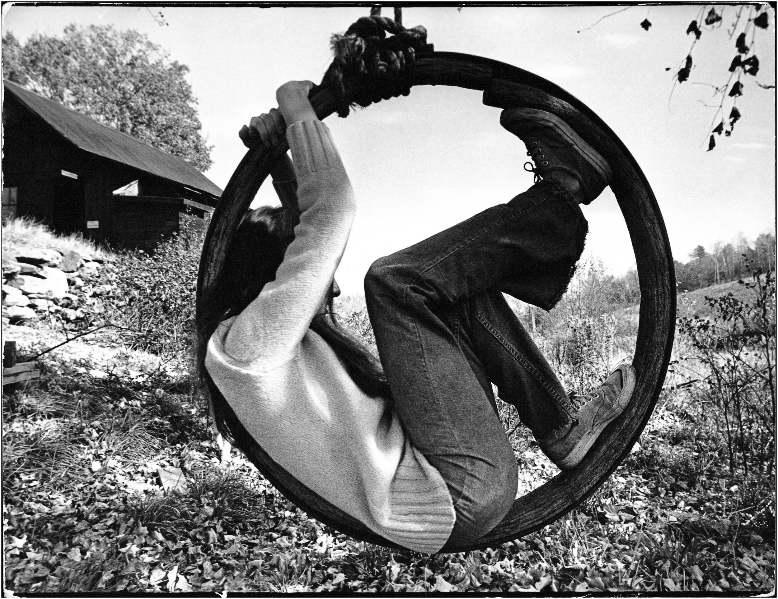 """The Wheel of Life"" - taken at a hippie commune in Vermont, 1969."