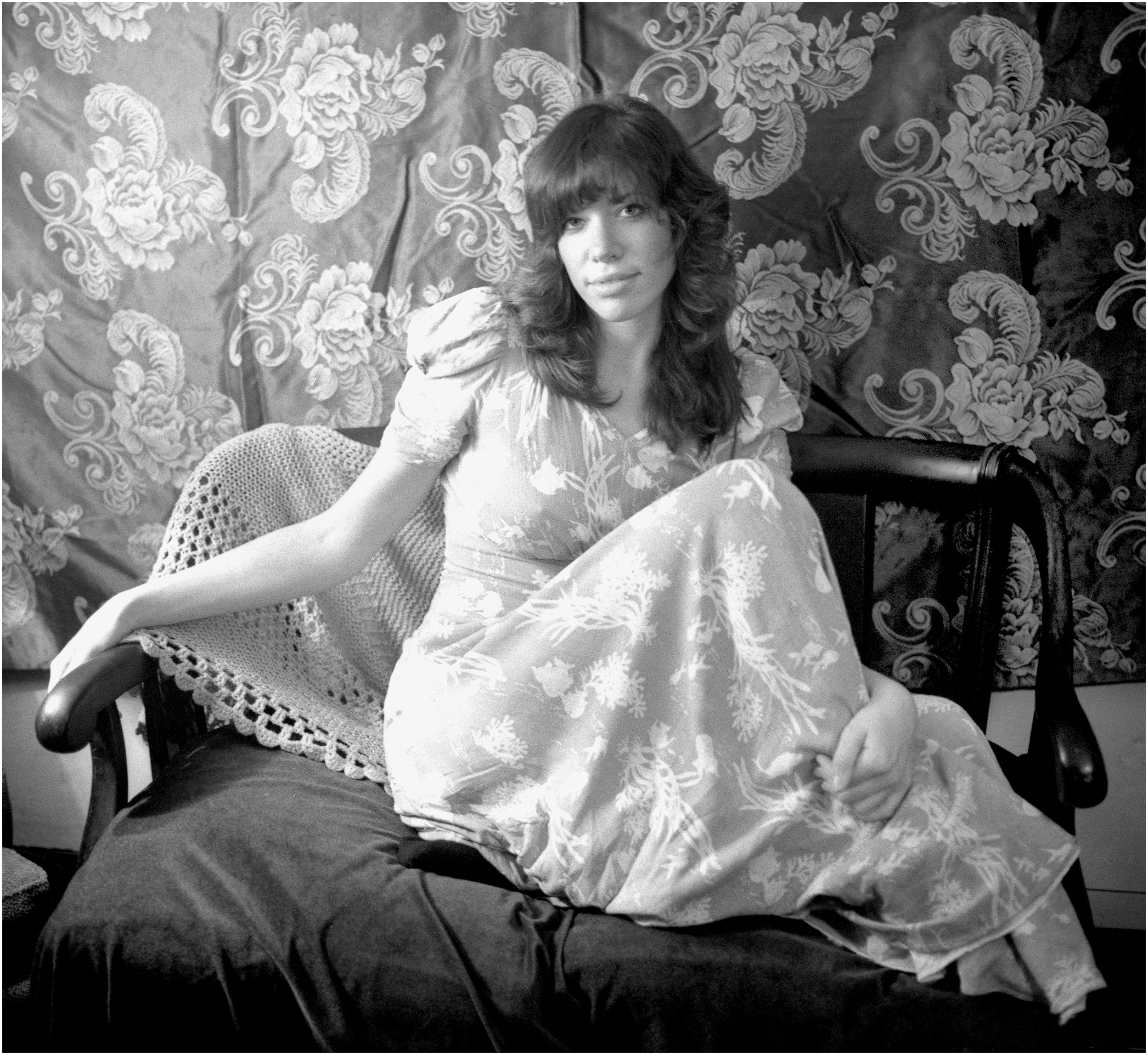 """Carly at the Commune"" - an outtake of the cover from her first LP, 1970."