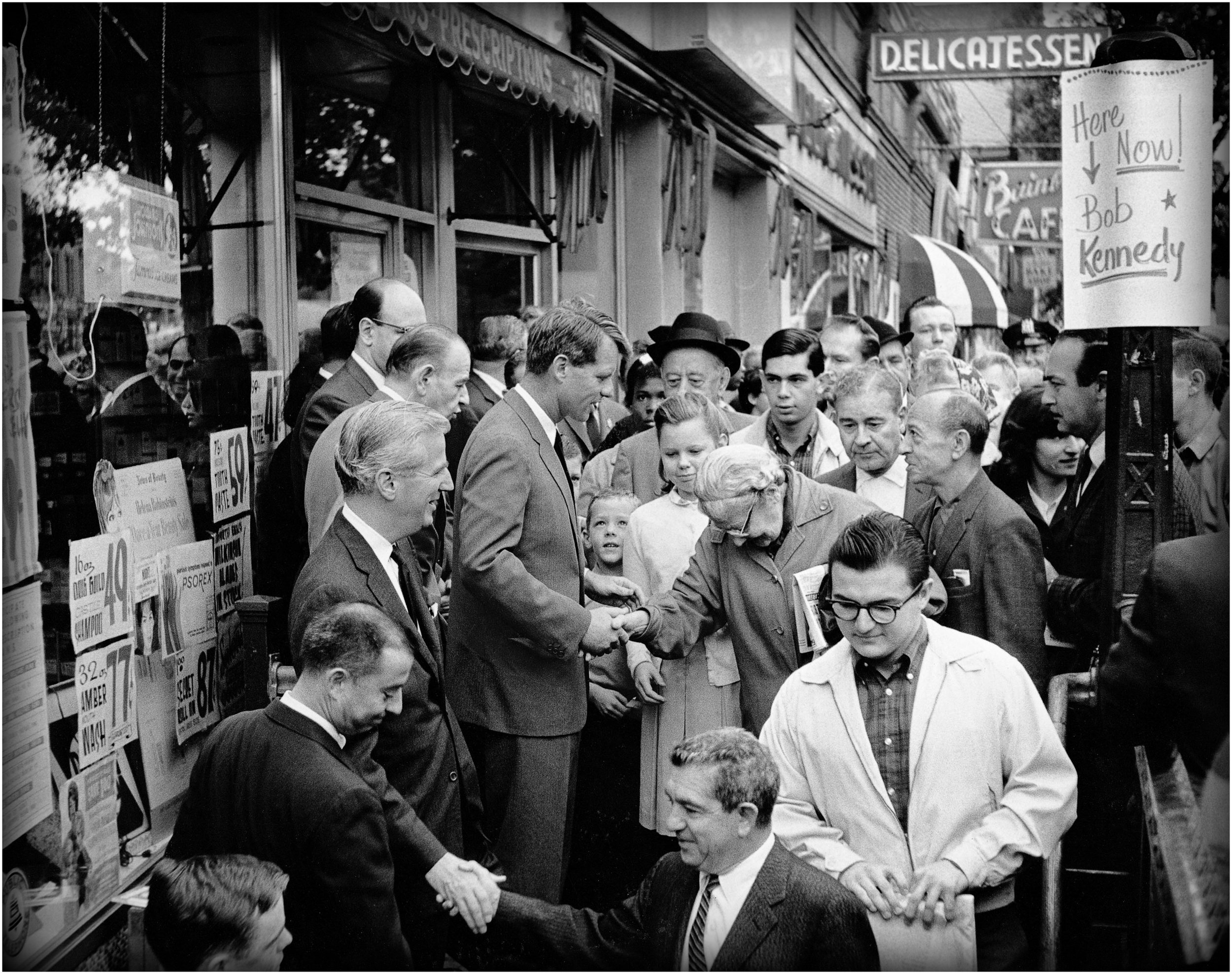 """A Moment of Hope"" - RFK campaigns for the Senate, Bronx NY, 1964."