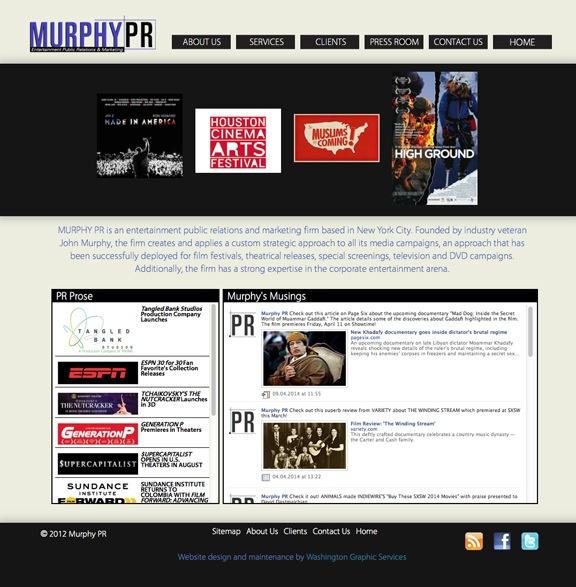 MurphyPR   Website, Logo Design and Maintenance