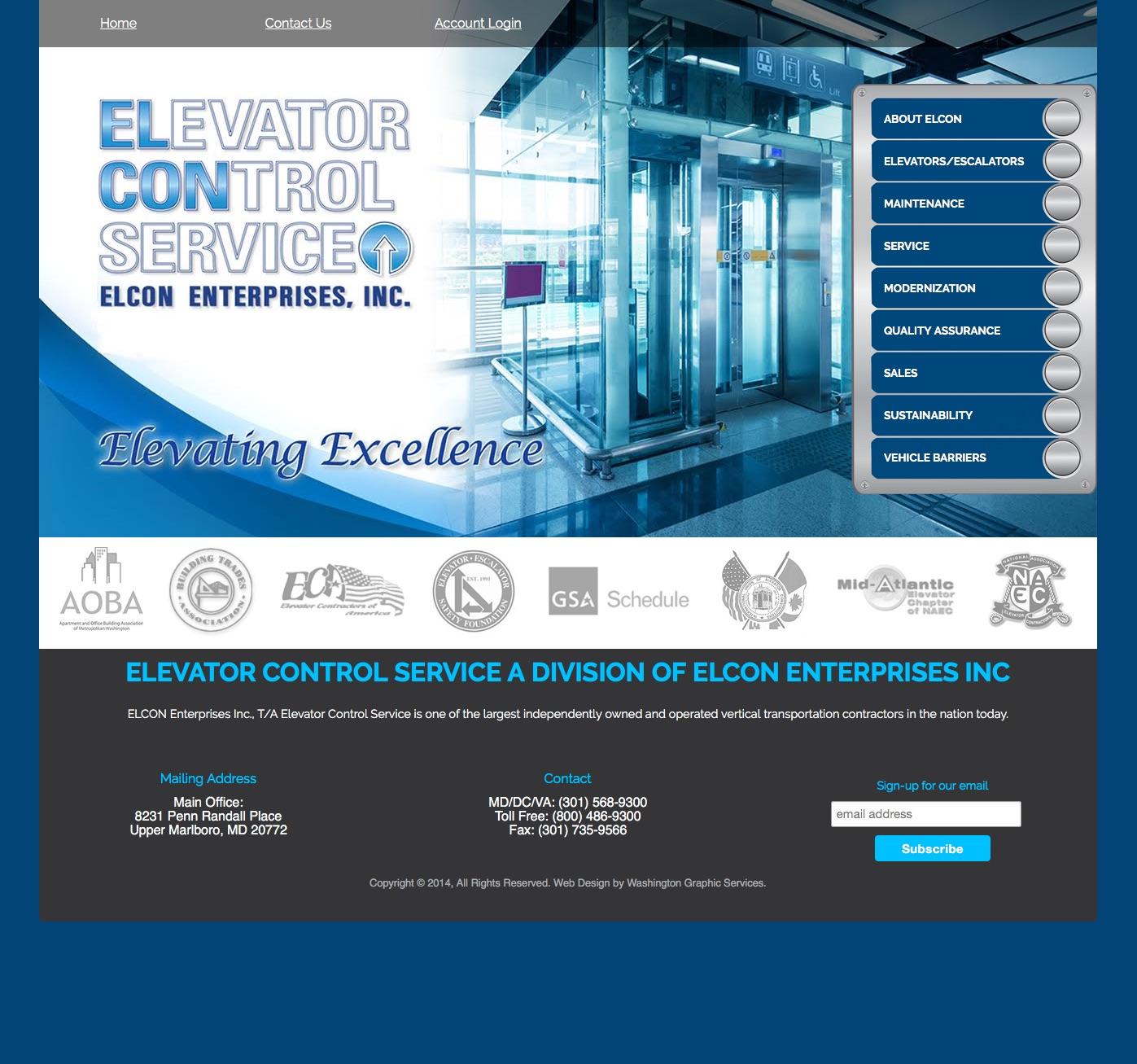Elevator Control Service   Website, Logo Design and Marketing