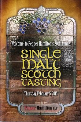 Pepper Hamilton Annual Malt Scotch Tasting Event Brochure