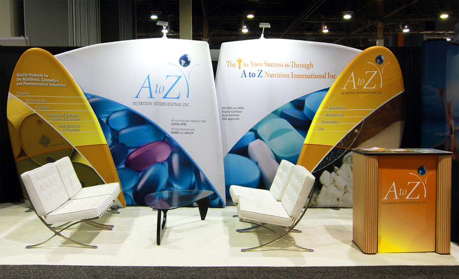 A to Z Health International Trade Show Booth