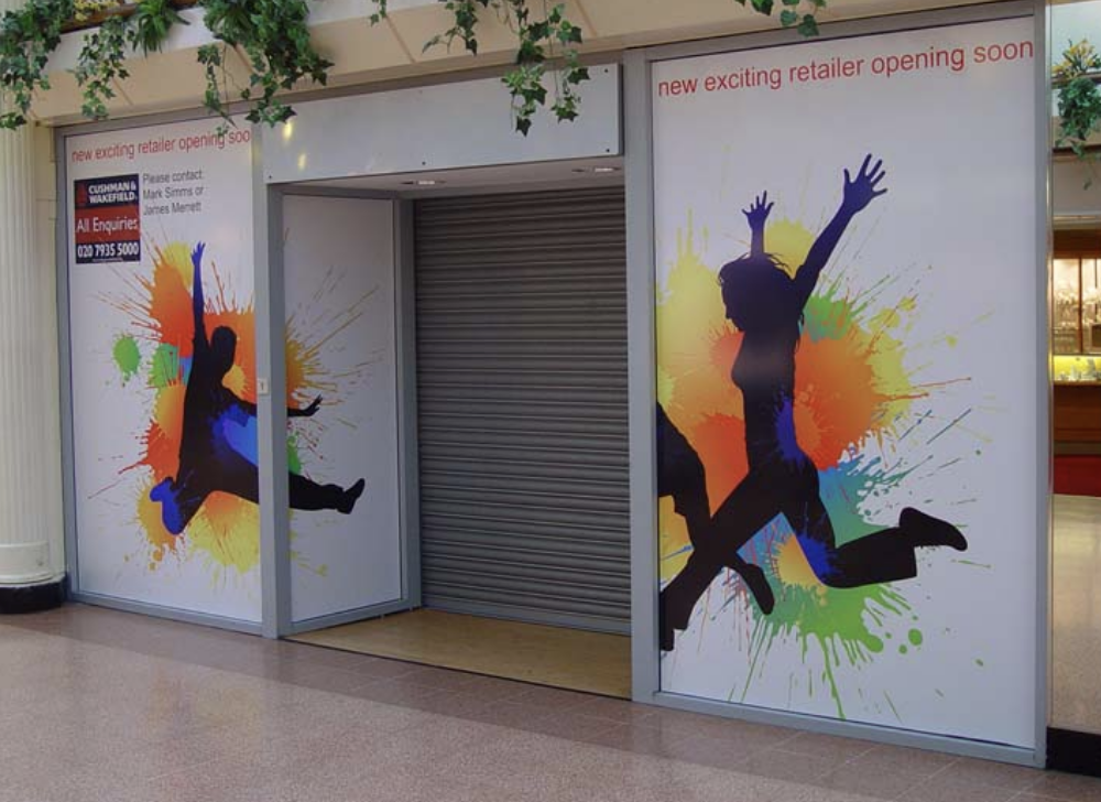 Montgomery Mall Window Store Graphics design and installation