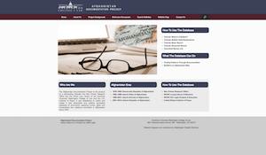 Afghanistan Documentation Project - American University (database programming, asset management)