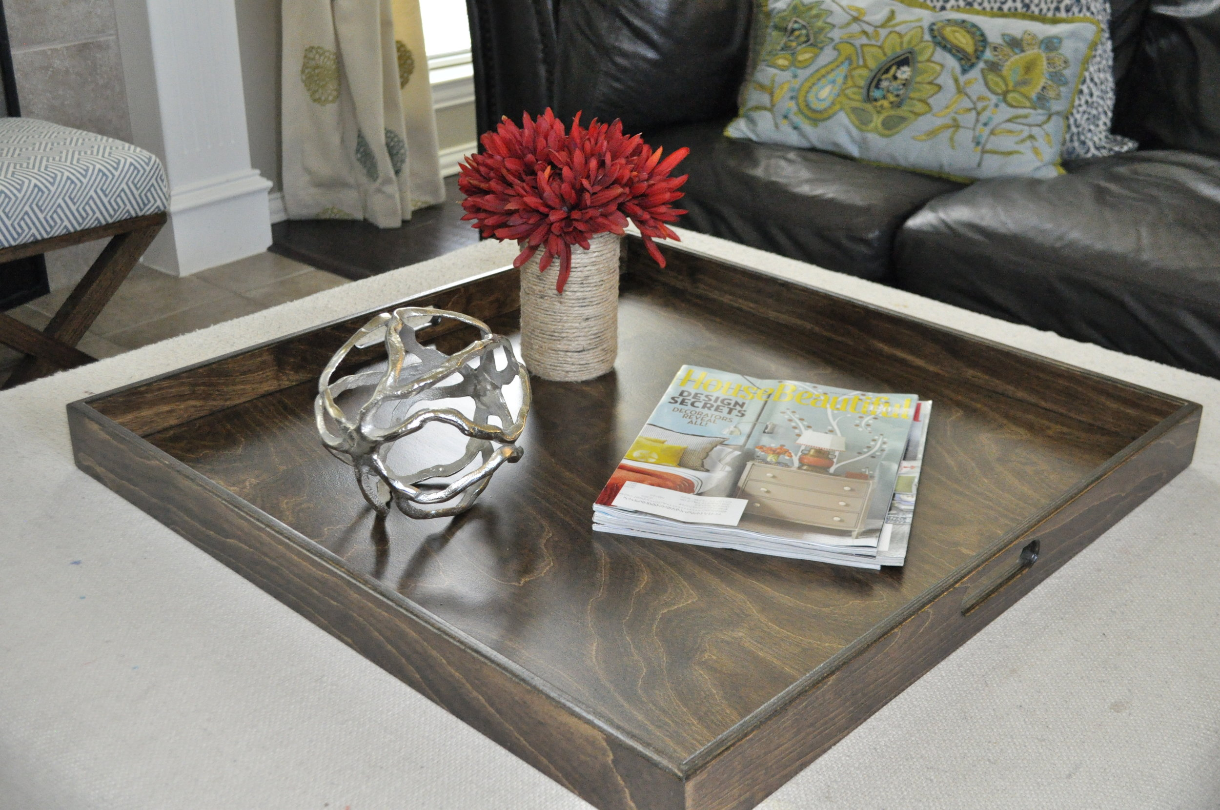 Stained Square Tray