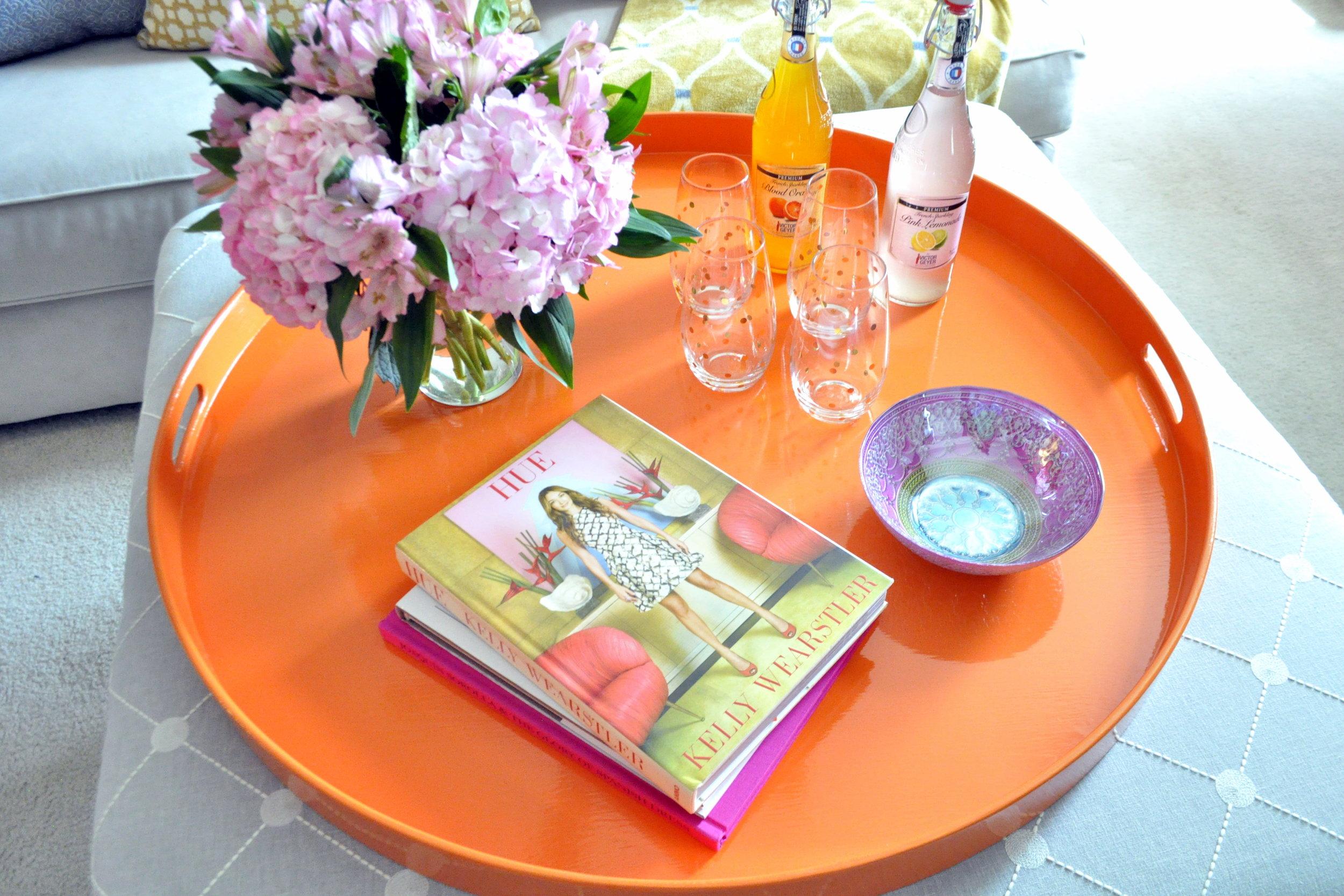Hermes Orange Round Tray