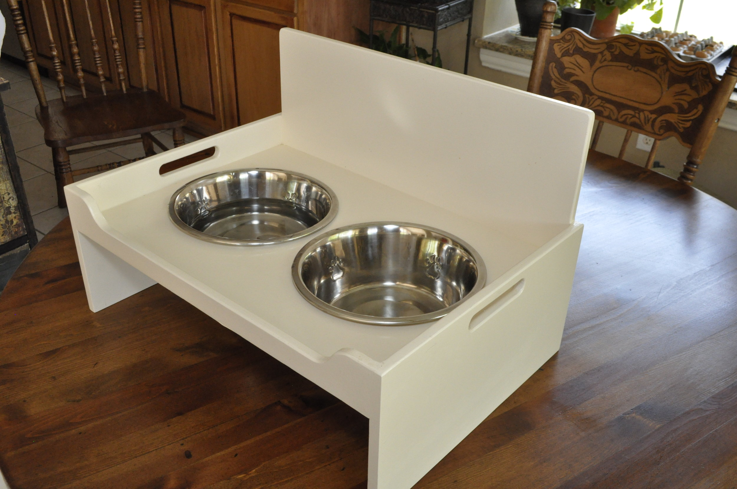 Cream Dog Tray