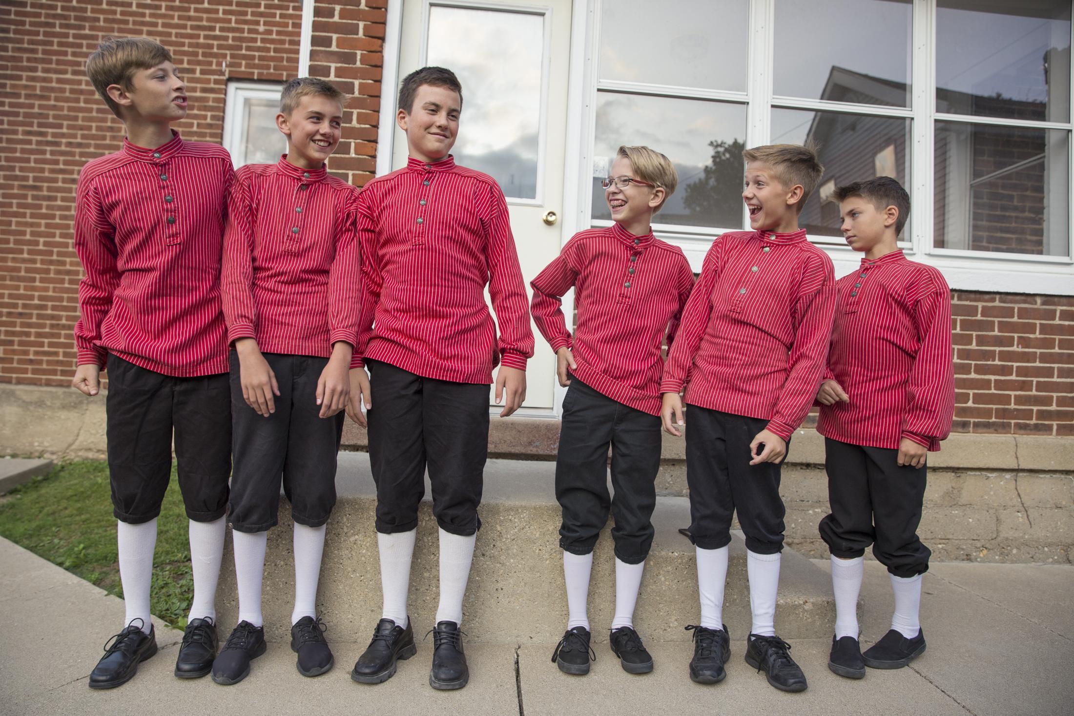 Rising 8th graders at Nordic Fest in Decorah Iowa.