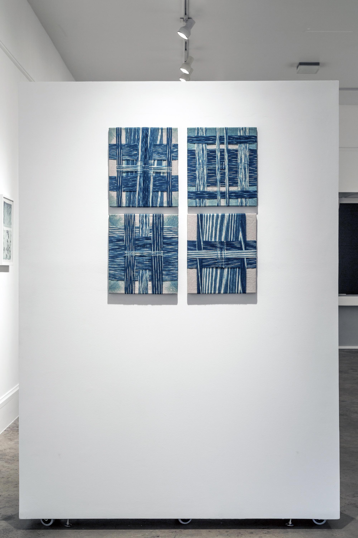 Wrapped Indigo Paintings I-IV, 2014