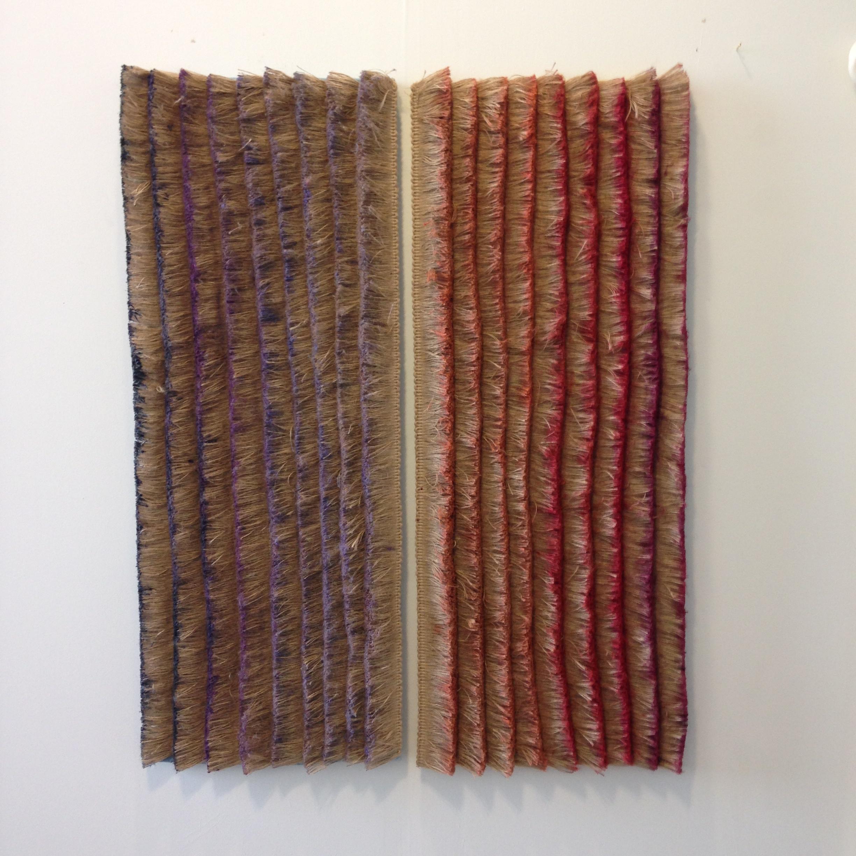 Fringe Color Study, Warm & Cool, 2014