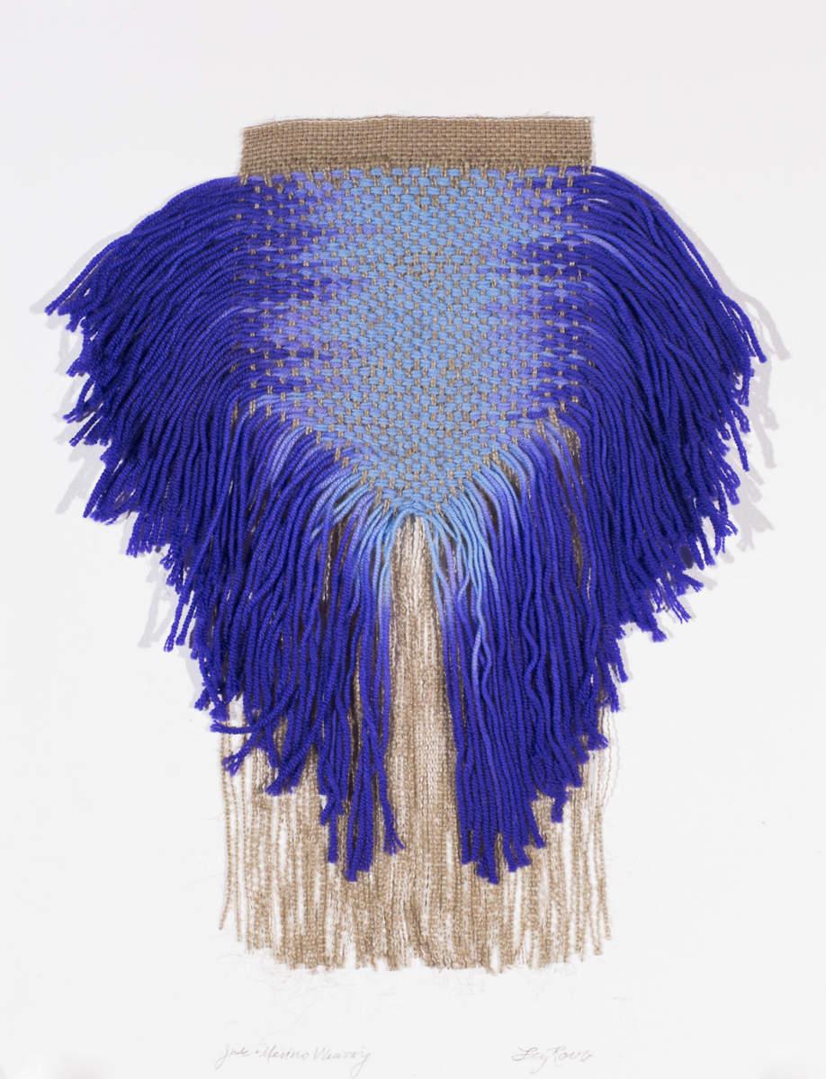 Blue Merino Weaving, 2013