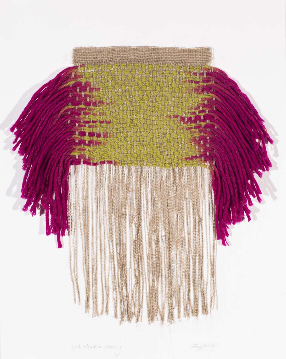 Pink Merino Weaving, 2013