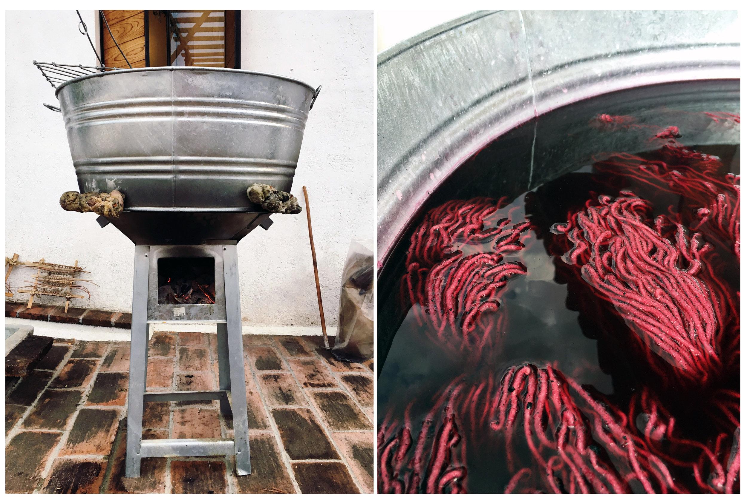 Cochineal Dye Vat,   2017