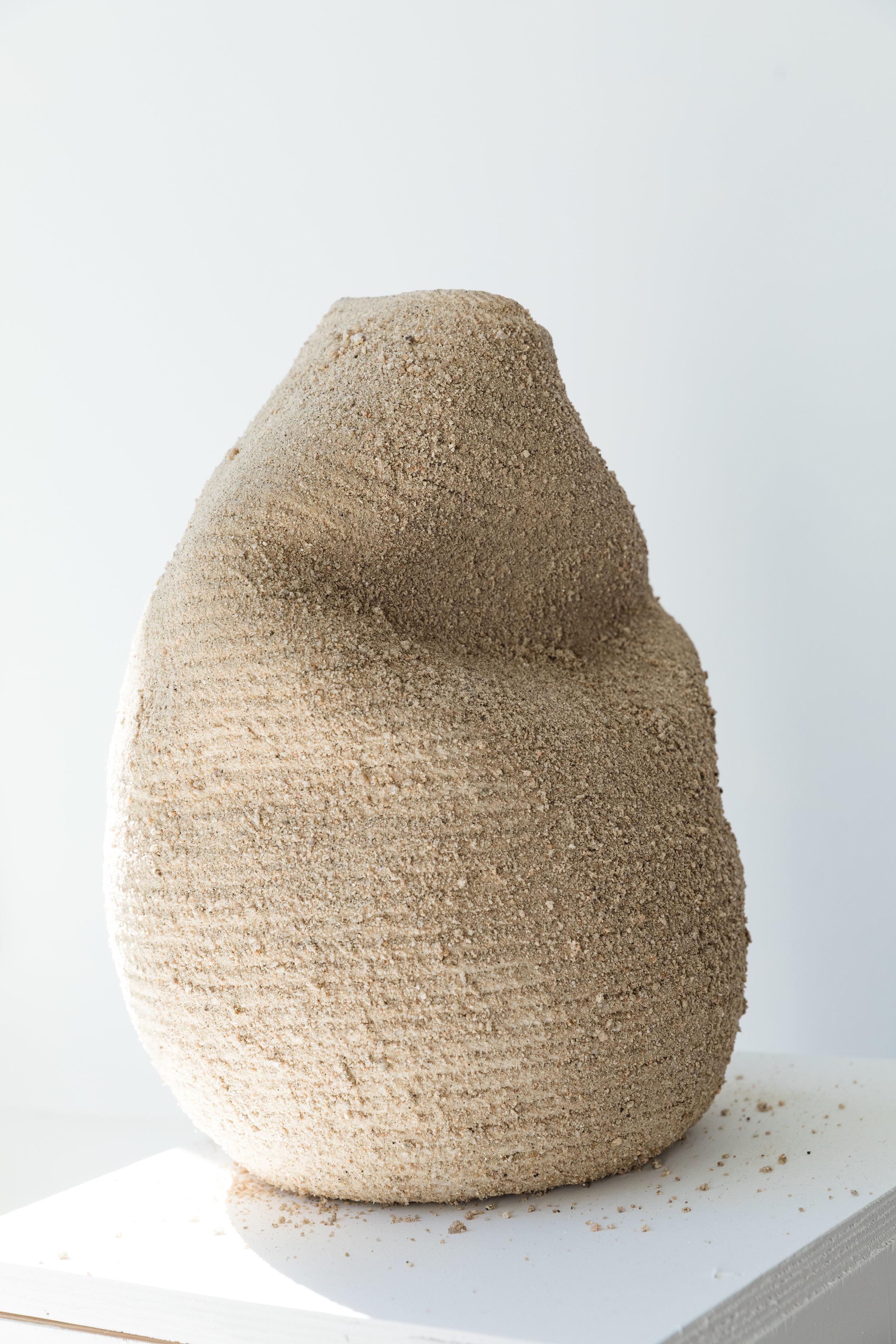Desert Vessel II  , 2017, cotton, earth pigments, 14 x 20 inches