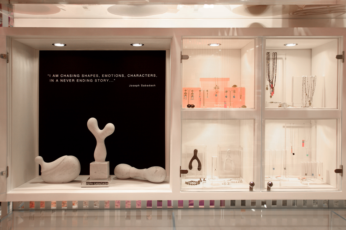 Babalu Miami Joseph Sabadash Art Installation & Jewelry Vitrines_1.jpg