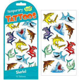 Sharks! Temporary Tattoos