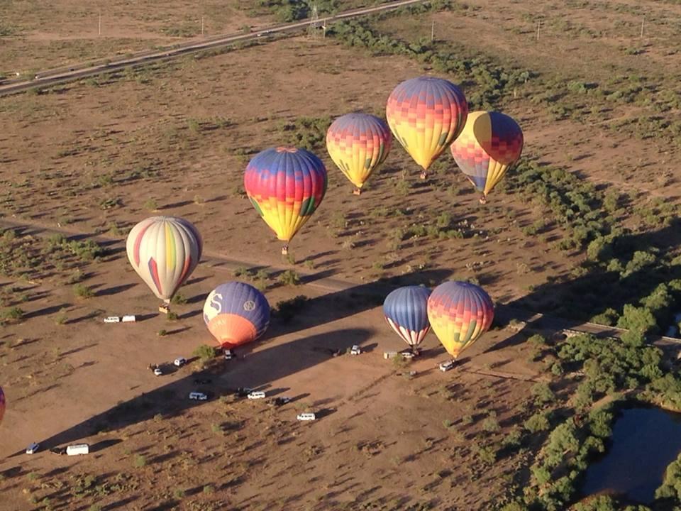 A hot air balloon ride above Phoenix.