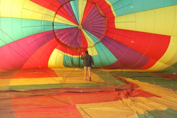 A hot air balloon ride in the making!