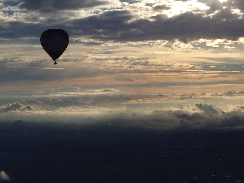 Panoramic views from a Phoenix balloon ride.