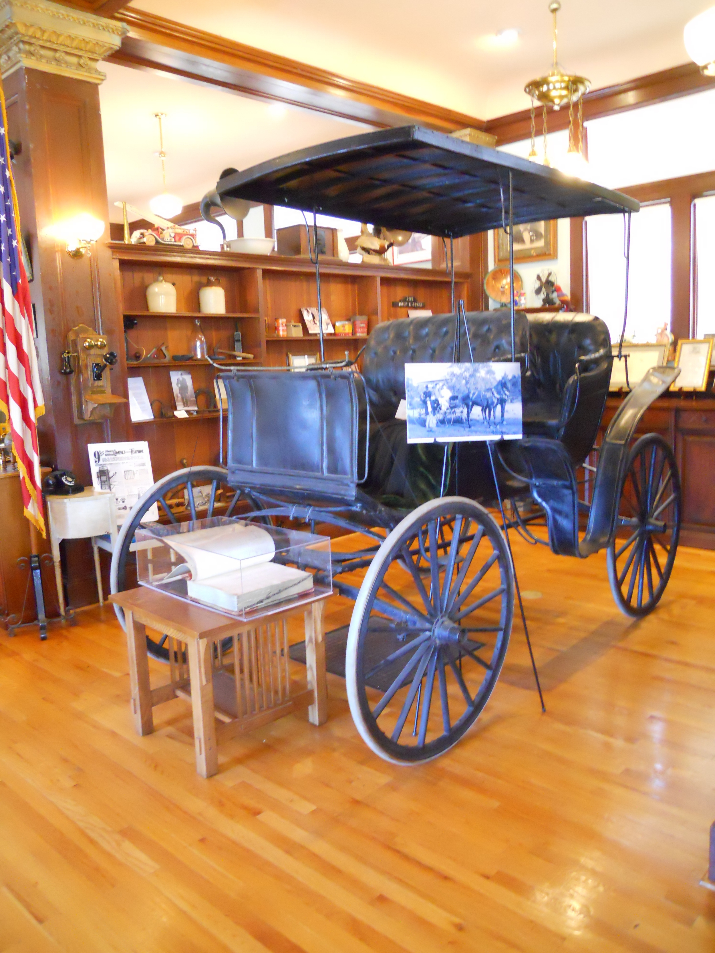 The Fiddyment family carriage currently on display at the Carnegie Museum