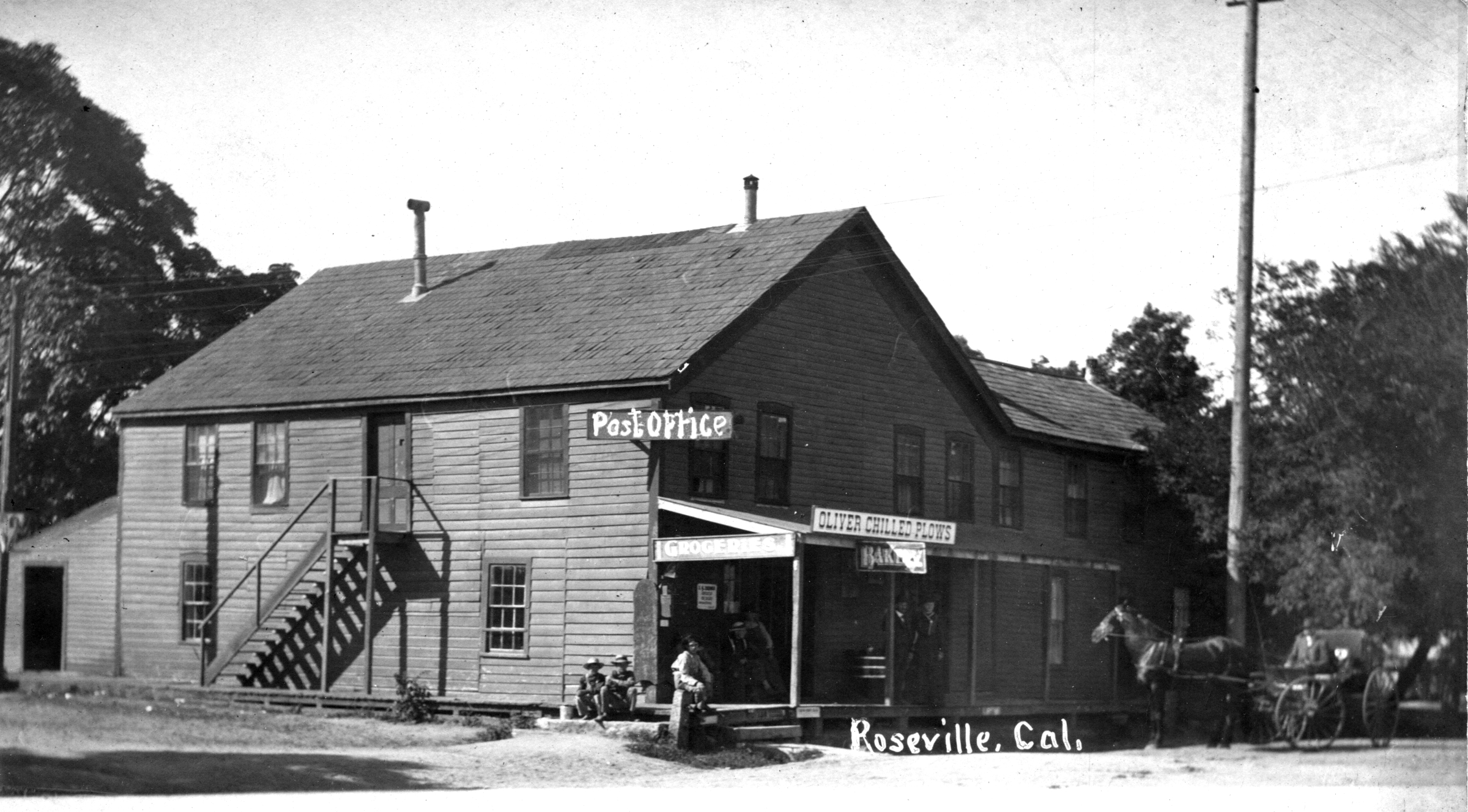 Lee Thomas mercantile store was Roseville's first store and this is where Lottie served as postmistress.