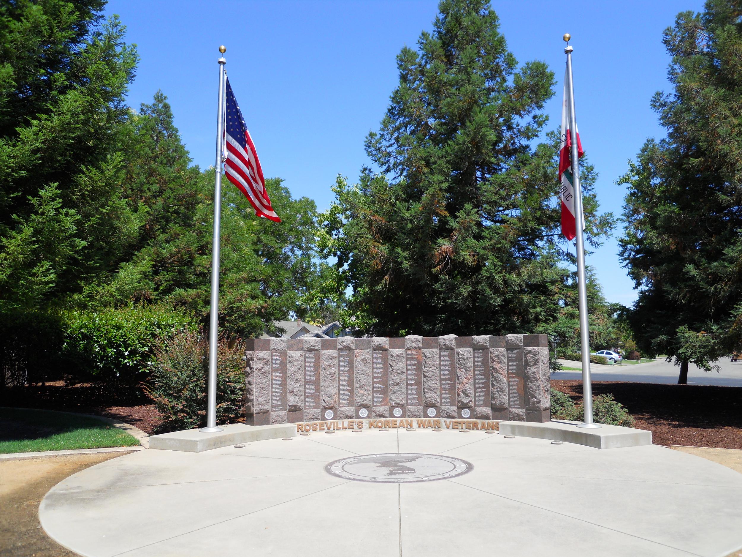 "The monument to ""Roseville's Korean War Veterans"" was installed in 2000."
