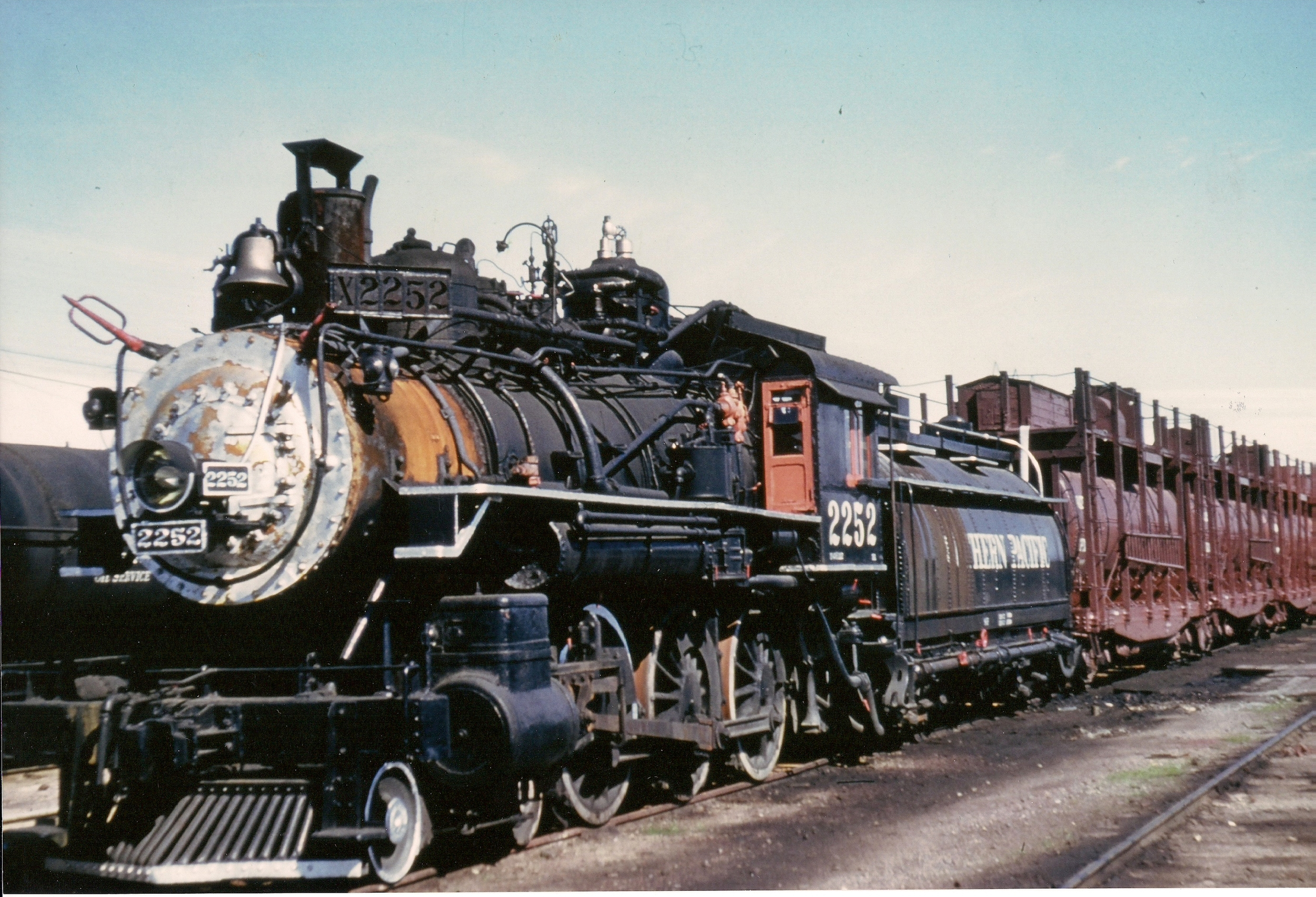 Locomotive No. 2252 in March 1956 at the time of its retirement from service. It would spend more than four decades at the Placer County Fairgrounds.