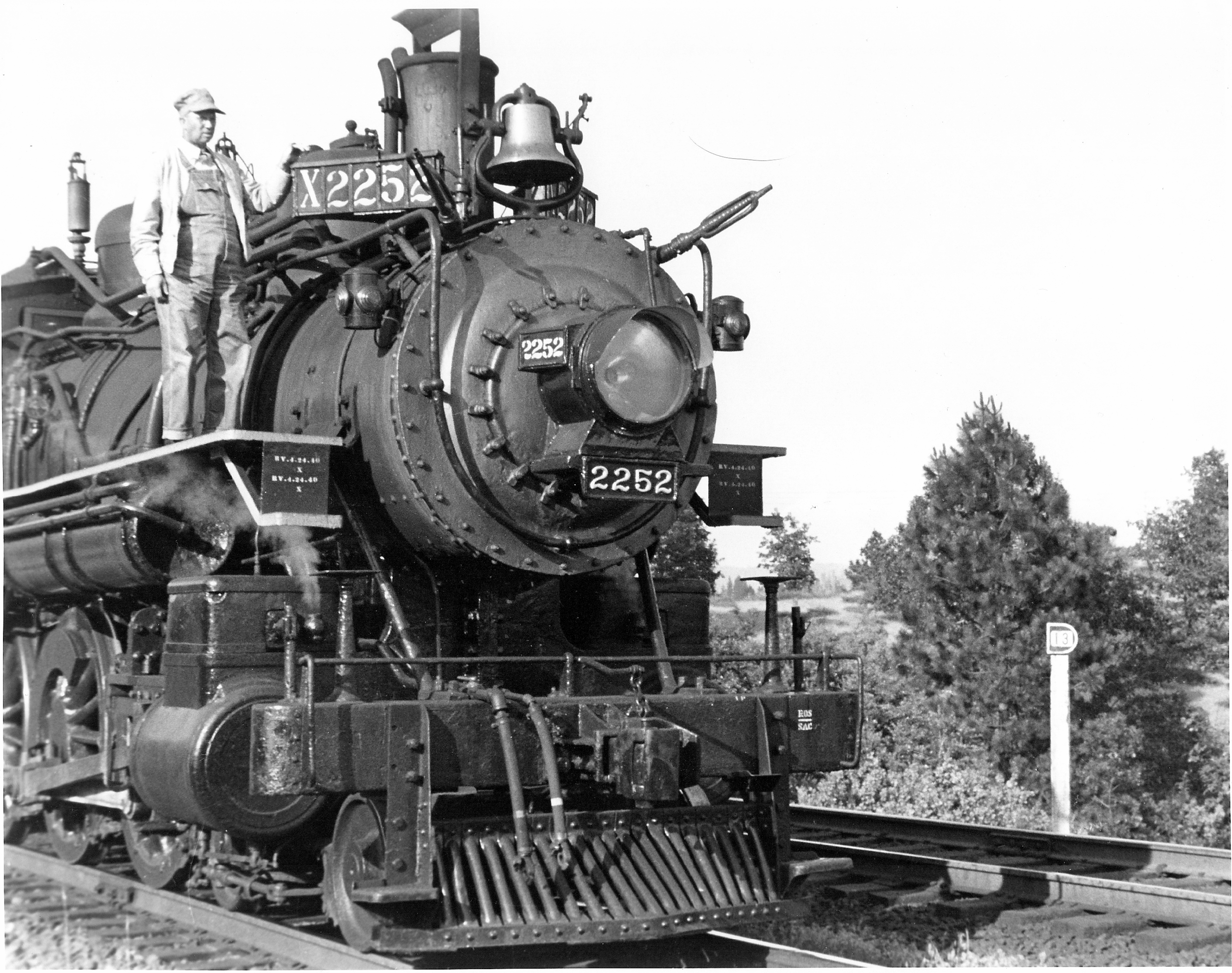 """LOCOMOTIVE NO. 2252 IS A SYMBOL OF THE HISTORY AND OF THE SOCIAL AND ECONOMIC IMPACT OF THE RAILROAD ON ROSEVILLE."