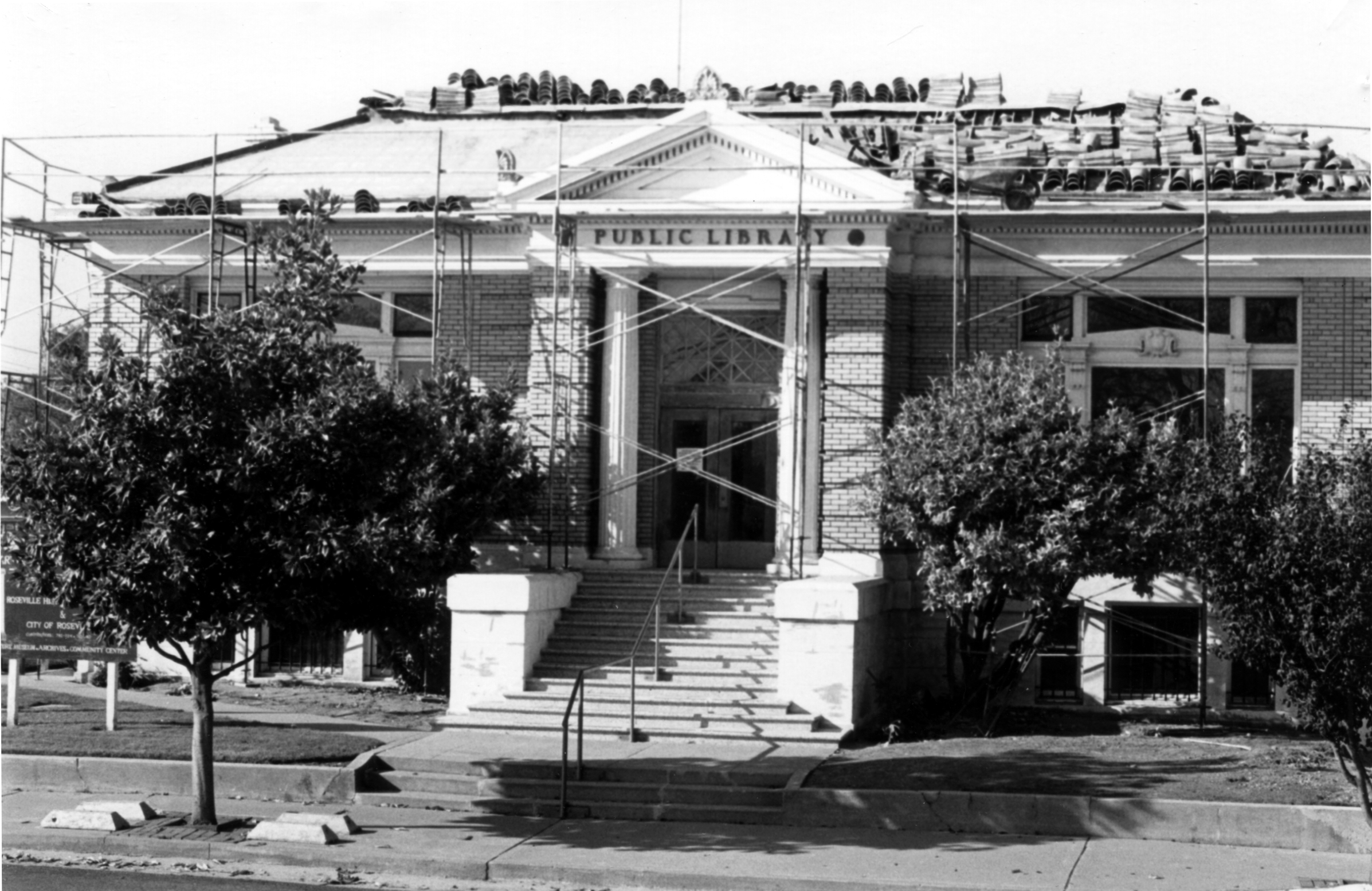 Renovating the old Public Library in the 1980's for its new use as home to the Roseville Historical Society.