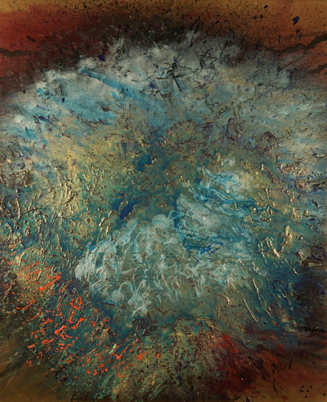 "Celestial Series, Today and Tom, 48"" x 60"", June 2005"