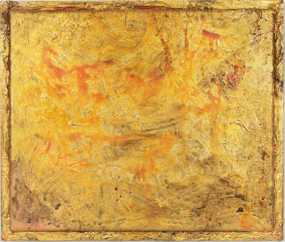 """Turbulence Series - In Gold, 66"""" x 78"""", 2015"""