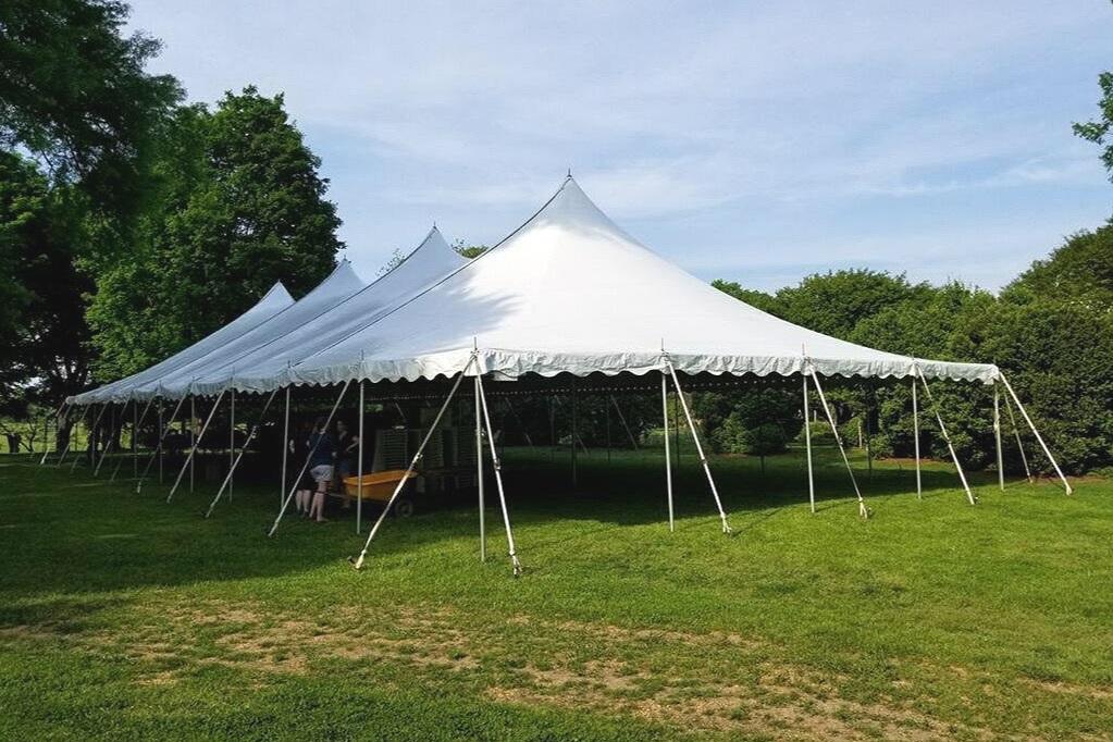 40 X 100 Pole Tent - Tuckahoe Plantation