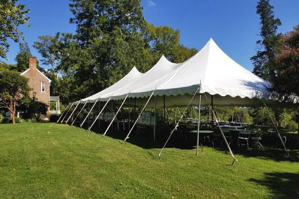 40 X 80 Pole Tent - Tuckahoe Plantation