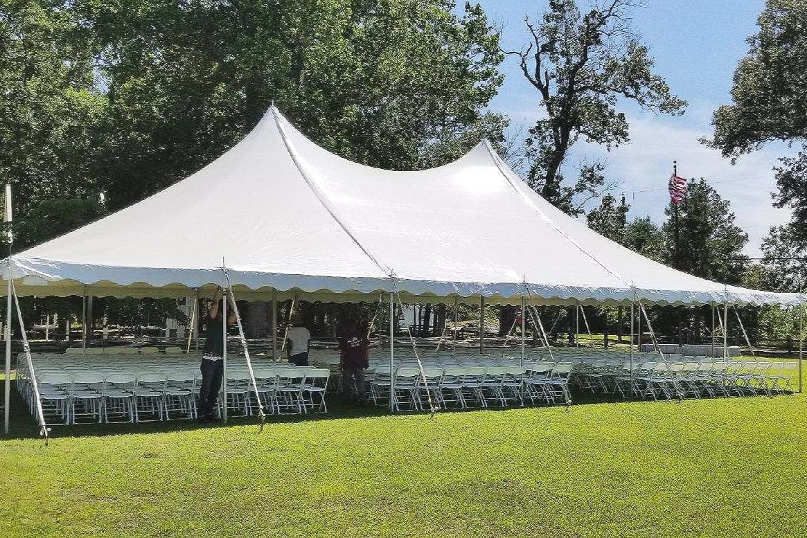 40 X 60 Pole Tent - Historic Polegreen