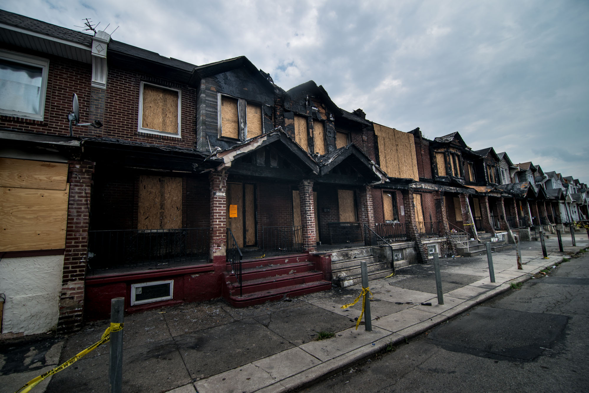 Forty-two people have lost their homes on the 6500th block of Gesner Street.
