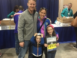 Erica and her family before the 2016 Boston Marathon
